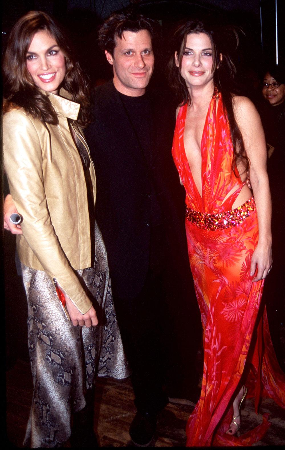Cindy Crawford, Isaac Mizrahi, and Sandra Bullock — 1999