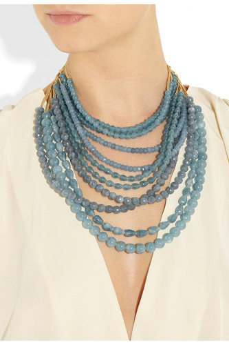 Rosantica | Raissa 24-karat gold-dipped angelite necklace  | NET-A-PORTER.COM