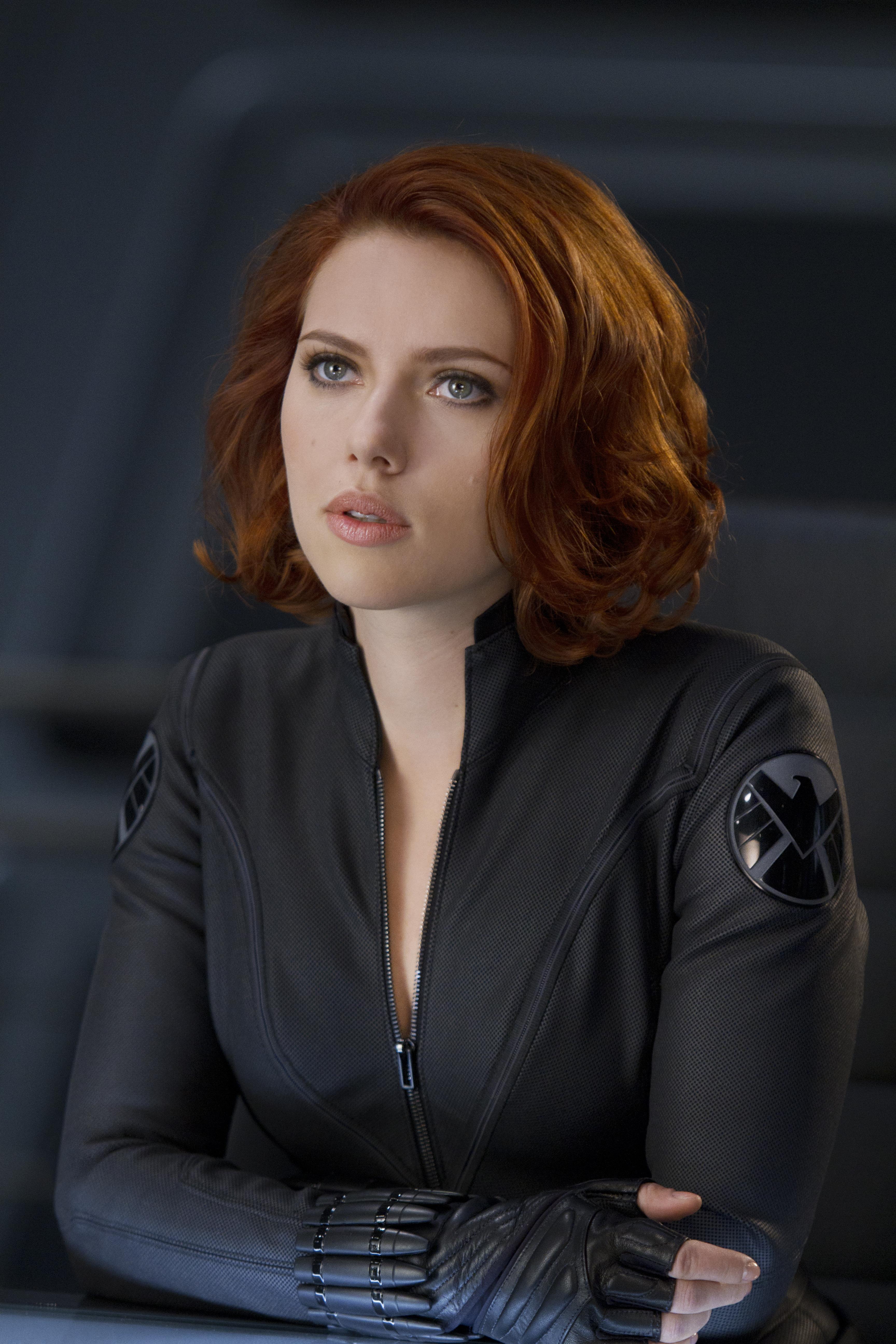 Scarlett Johansson as Black Black Widow Scarlett Johansson Avengers