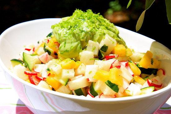 Jicama, Pineapple, and Radish Salad
