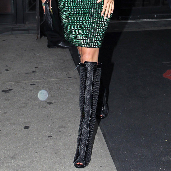 Celebrities in Dresses With Boots