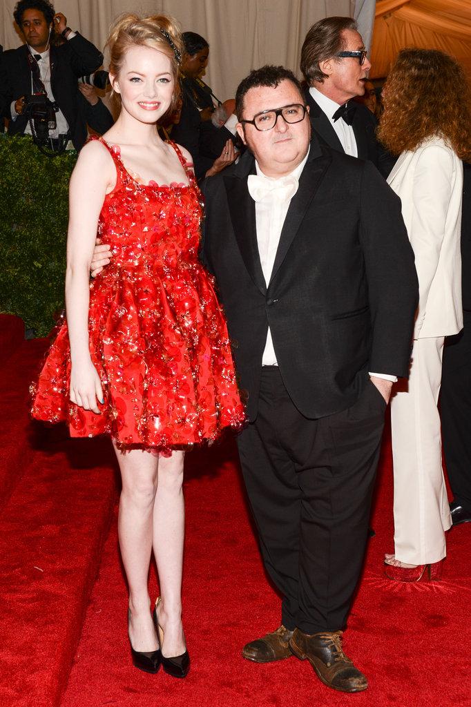 Emma Stone and Alber Elbaz