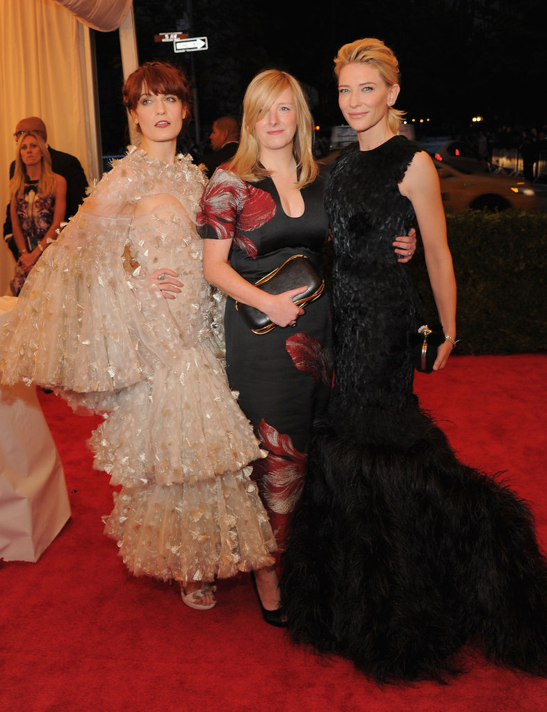 Florence Welch, Sarah Burton, and Cate Blanchett