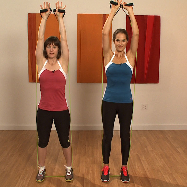 Workout With Bands For Arms: Resistance Band Workout Video: Arms, Legs, And Abs