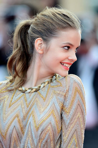 Barbara Palvin's ponytail injected a youthful touch to her glamorous ensemble.