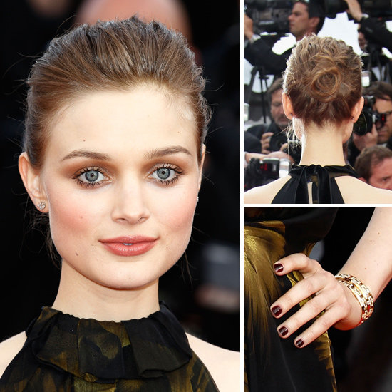 Bella Heathcote's Smoldering Eyes And Dark Nails At Cannes