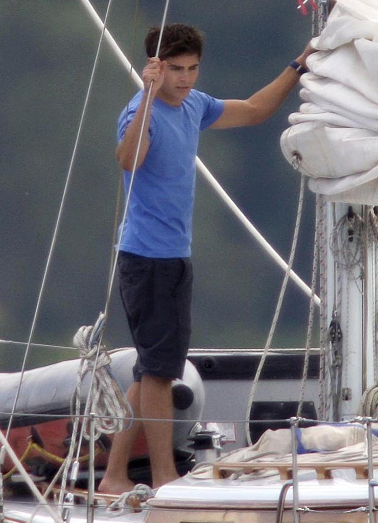 Zac Efron shot scenes for Charlie St. Cloud around Vancouver on a sailboat in 2010.