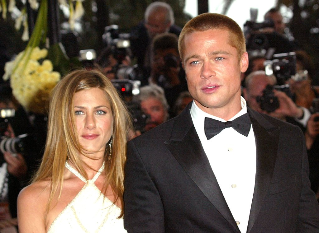 Jennifer Aniston and Brad Pitt in 2004