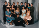 """Oh, the '90s! Floral prints and satin ruffles. You can't tell because of the girl in front of me, but my dress is covered in teal sequins [pictured back row, right]. I still own the dress and plan on wearing it when I turn 40. I'm pretty sure it's going to be back in by then."" — Sabrina Eldredge"