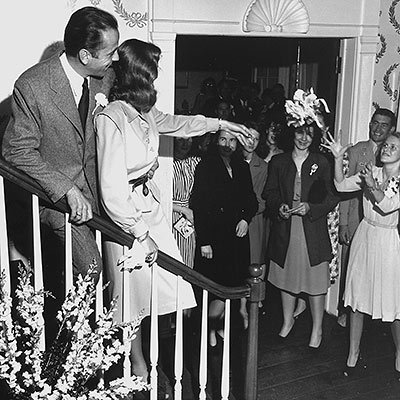 Lauren Bacall's Bouquet Toss