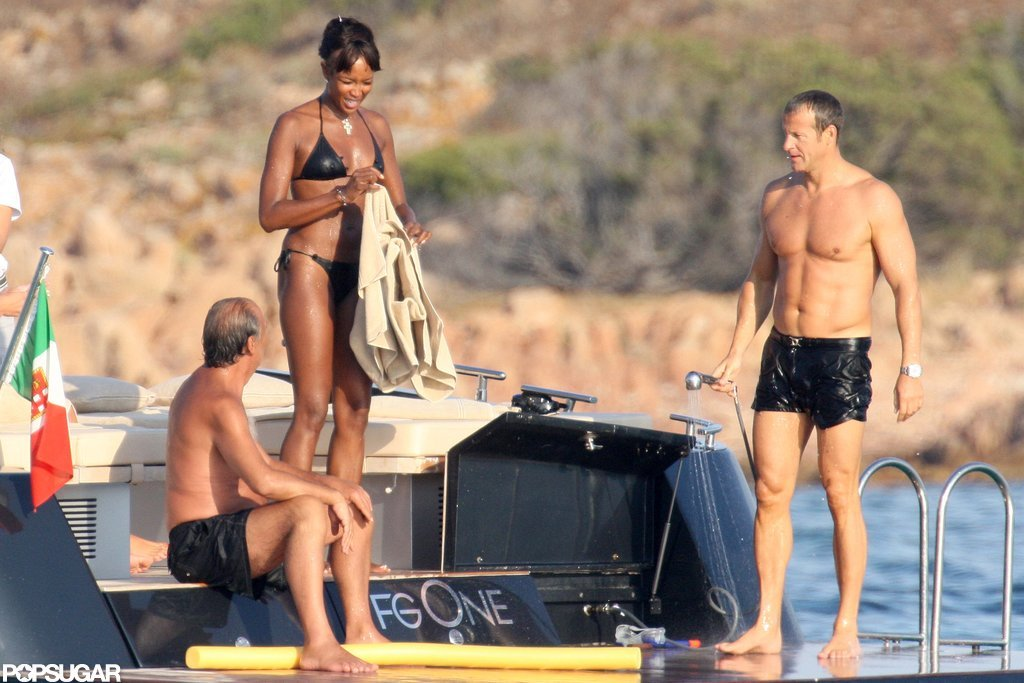 Naomi Campbell and Vladislav Doronin hung out on a boat with friends in Sardinia during an August 2009 getaway.