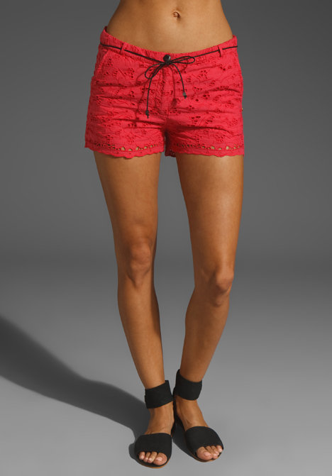 Slip these eyelet shorts on over your swimsuit for a quick beach day cover-up.  Maison Scotch Cotton Eyelet Shorts ($147)