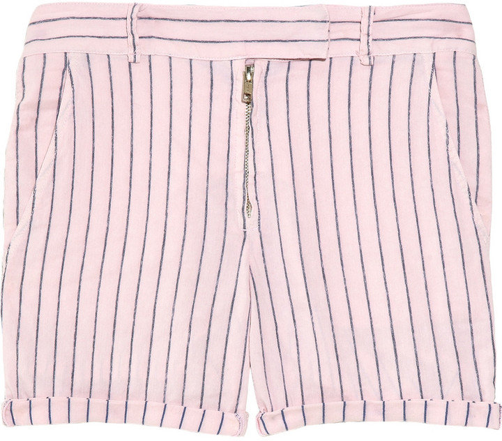 This pair belongs on the deck of a boat.  A.L.C. Camden Striped Shorts ($215)