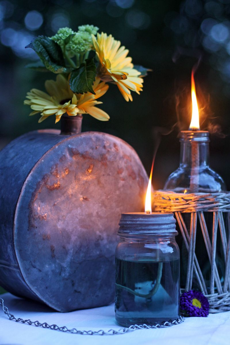 Upcycle Your Baby Food Jars Into Jar Oil Lamps