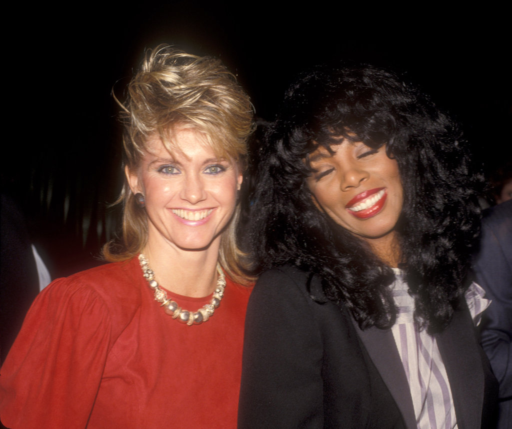olivia newtonjohn and donna summer enjoy themselves at
