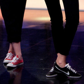 Charlize Theron Black-and-White Nike Low Tops