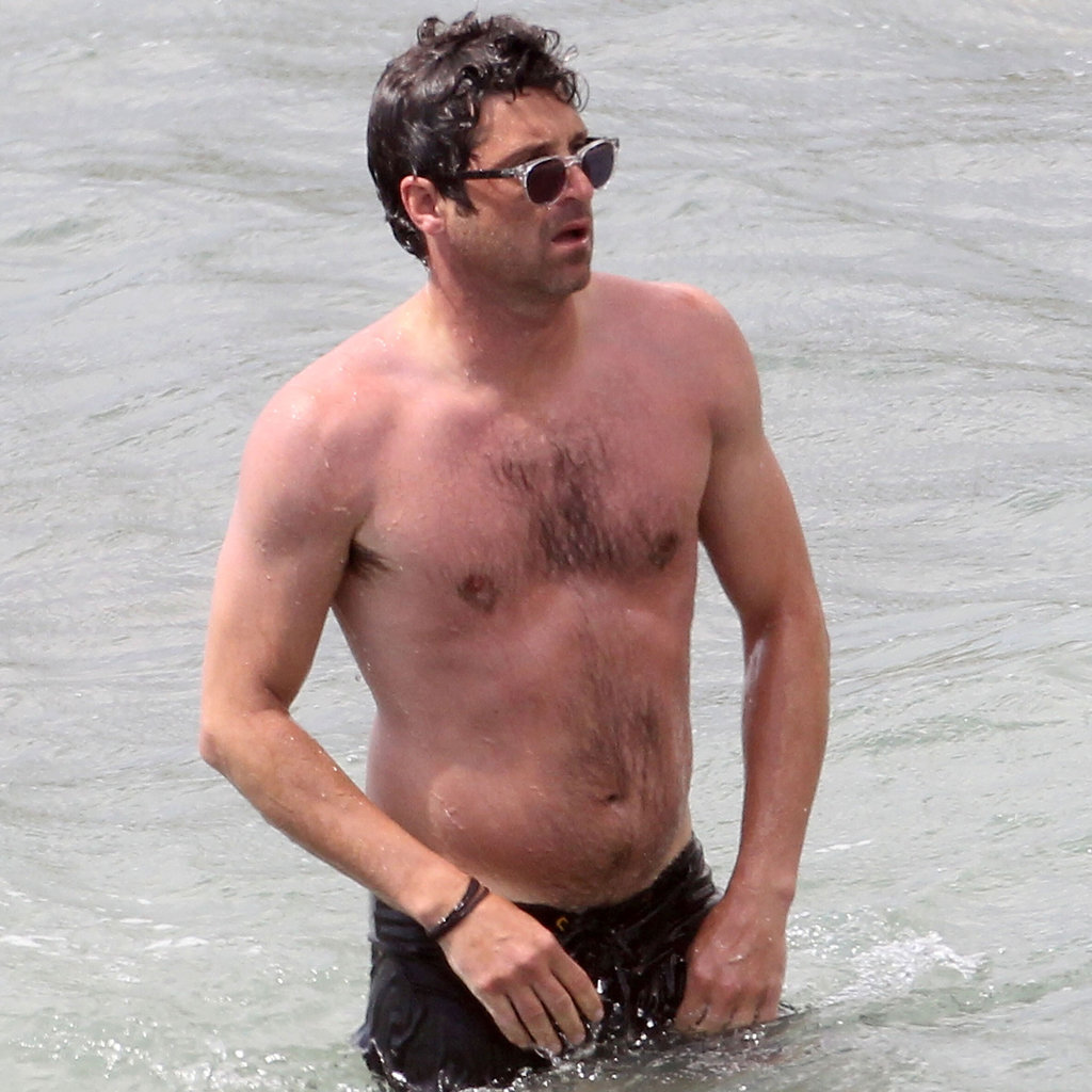 Patrick Dempsey went shirtless in St. Barts.