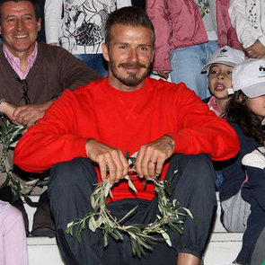 David Beckham Brings Olympic Torch to UK Pictures