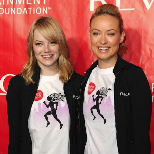 Olivia Wilde and Emma Stone in New Revlon Ads