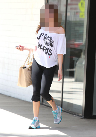 Guess Which Charming Actress Is Leaving the Gym?