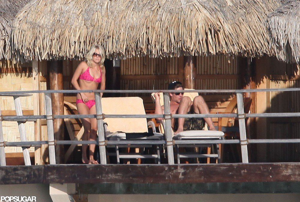 Carrie Underwood showed off her impressive bikini body while on her July 2010 honeymoon in Tahiti with husband Mike Fisher.