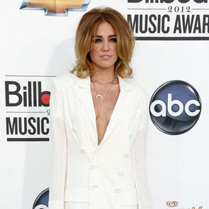 Miley Cyrus Pictures in Low-Cut White Blazer at 2012 Billboard Music Awards