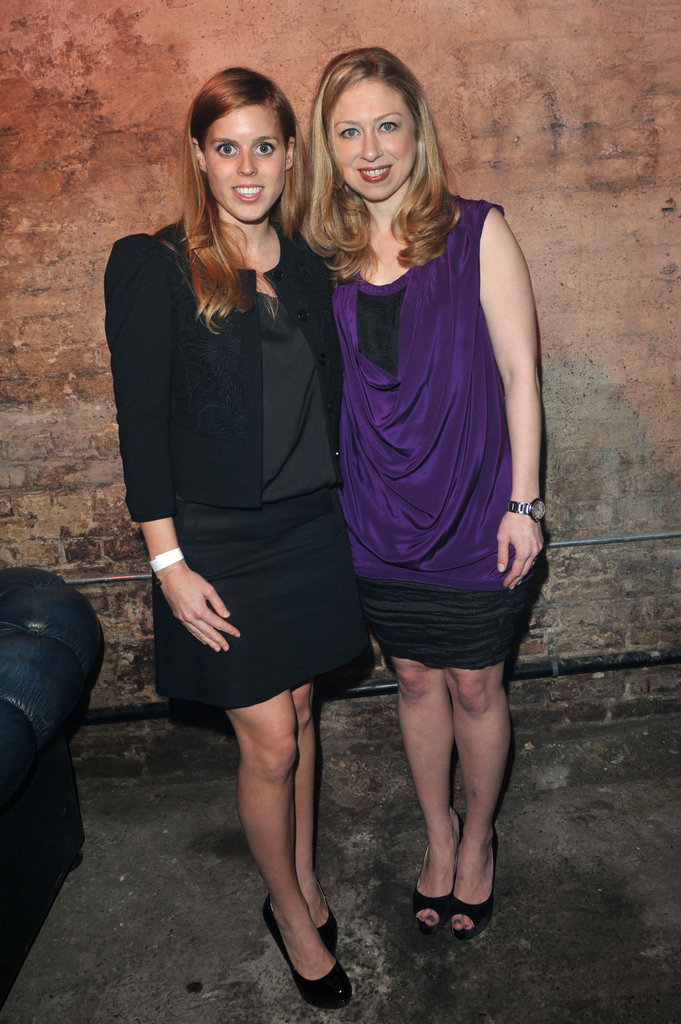 Princess Beatrice and Chelsea Clinton attended a Clinton Foundation event in London.