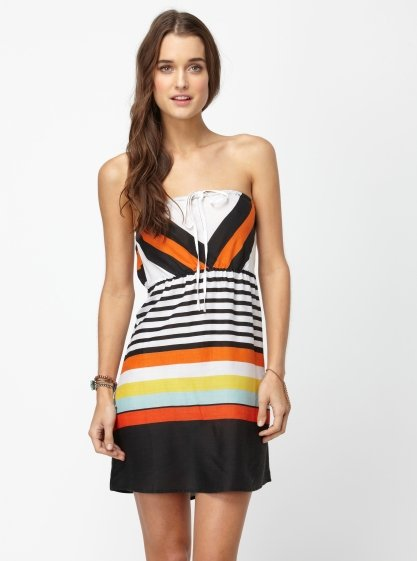 This burst of brights feels effortlessly fun.  Roxy Sky Sail Dress ($45)