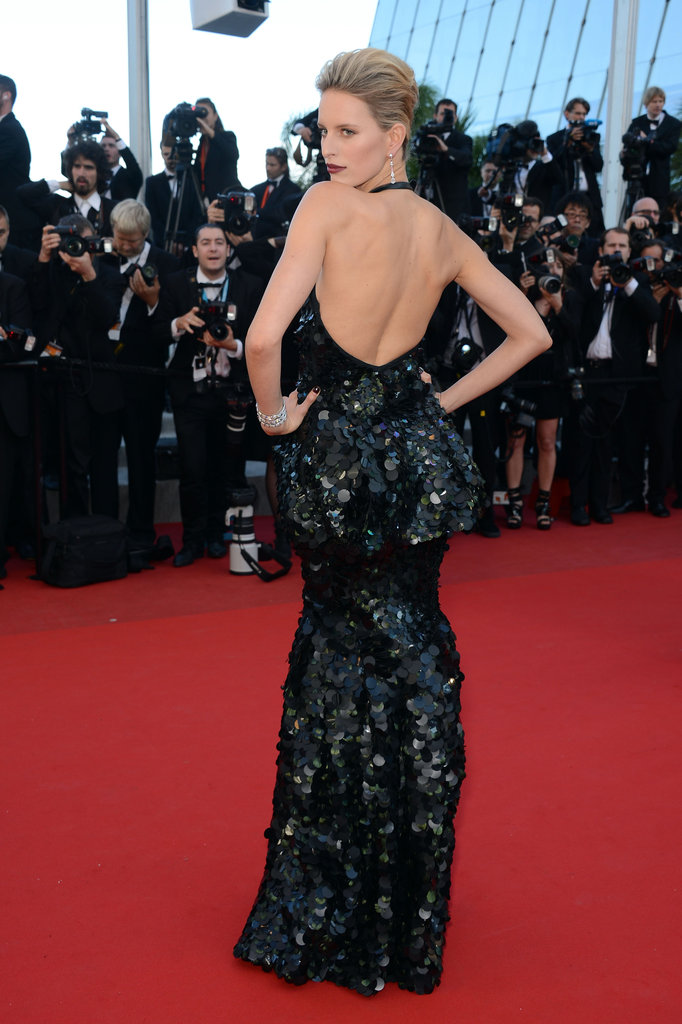 A back shot of Karolina's gown at the Killing Them Softly premiere.