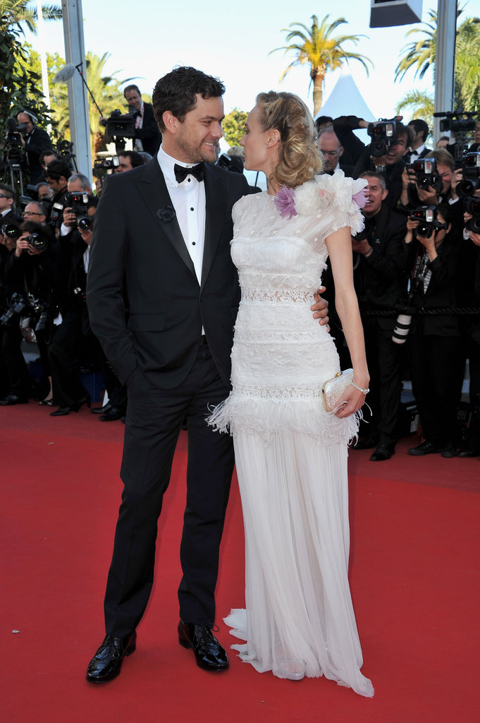 A cute snap of one seriously stylish Cannes couple — Joshua Jackson and Diane Kruger make red-carpet dressing look so easy.