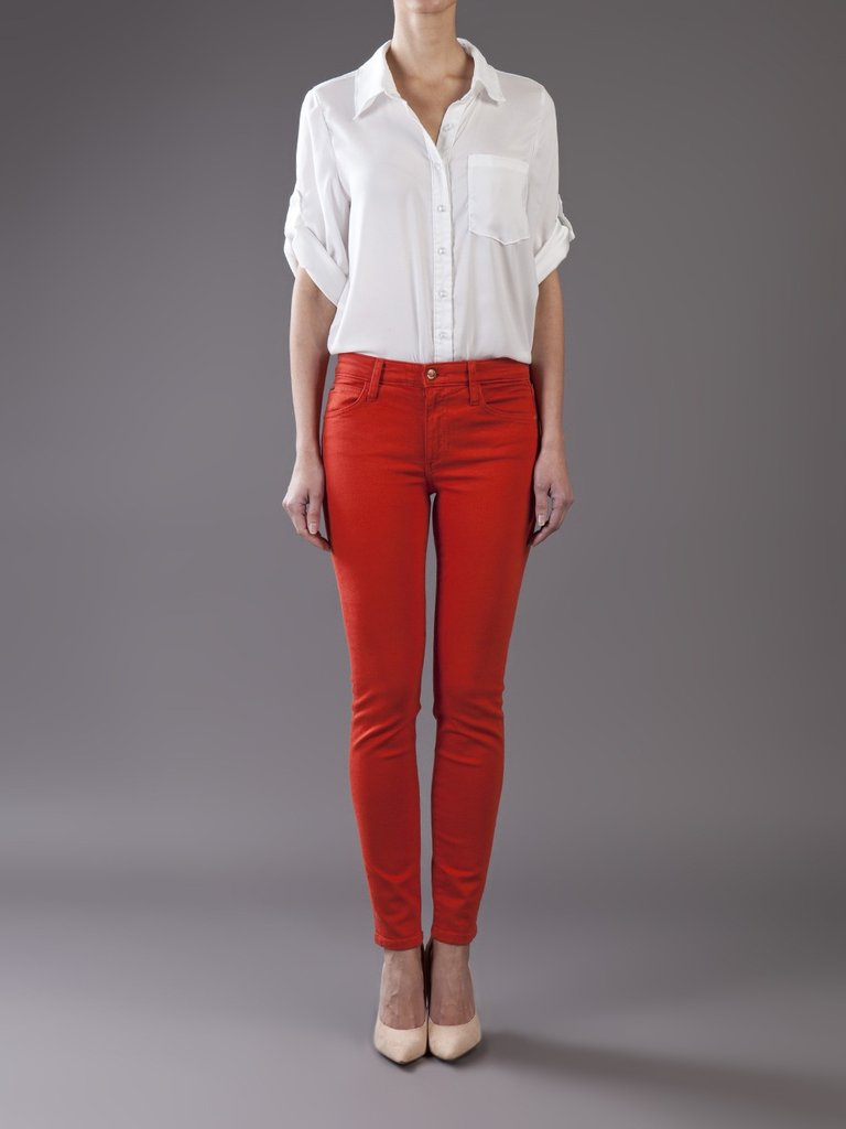 Joe's Jeans High Rise Skinny Jean in Red ($158)