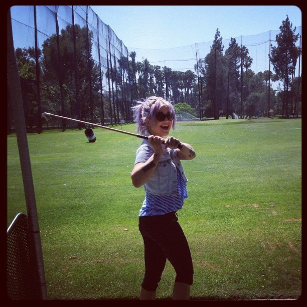 Kelly Osbourne played a round of golf.  Source: Instagram user kellyosbourne