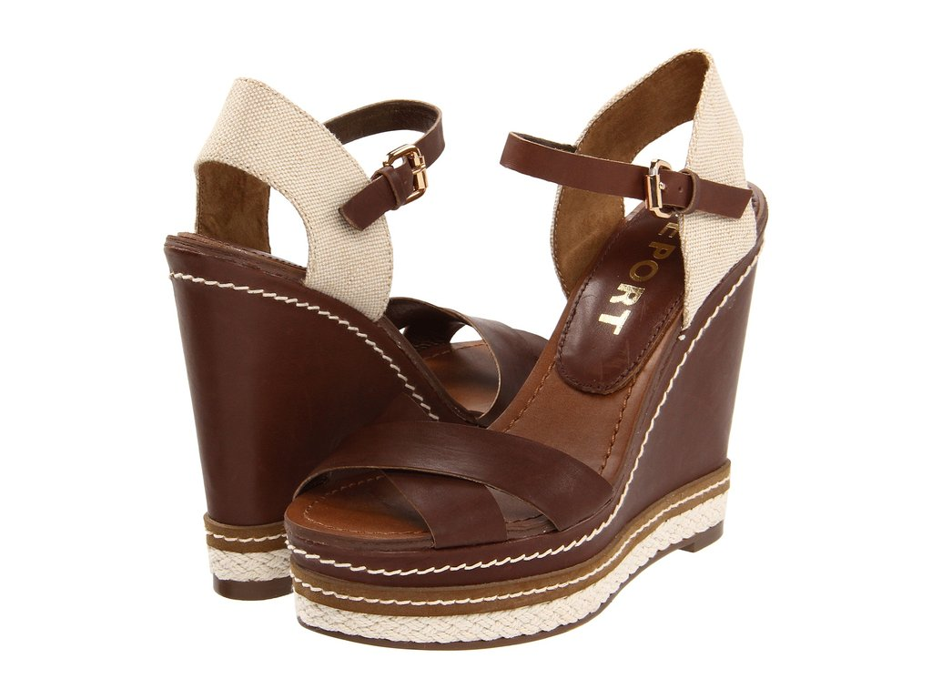 Play with opposites: sport these sturdy wedges with a floral dress or skirt.  Report Joelle Wedges ($67)