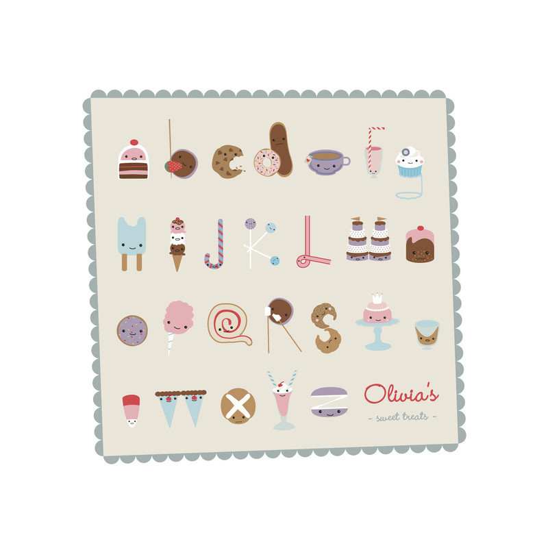 """""""Sweet Treats Alphabet"""" by Frooted Design ($20)"""