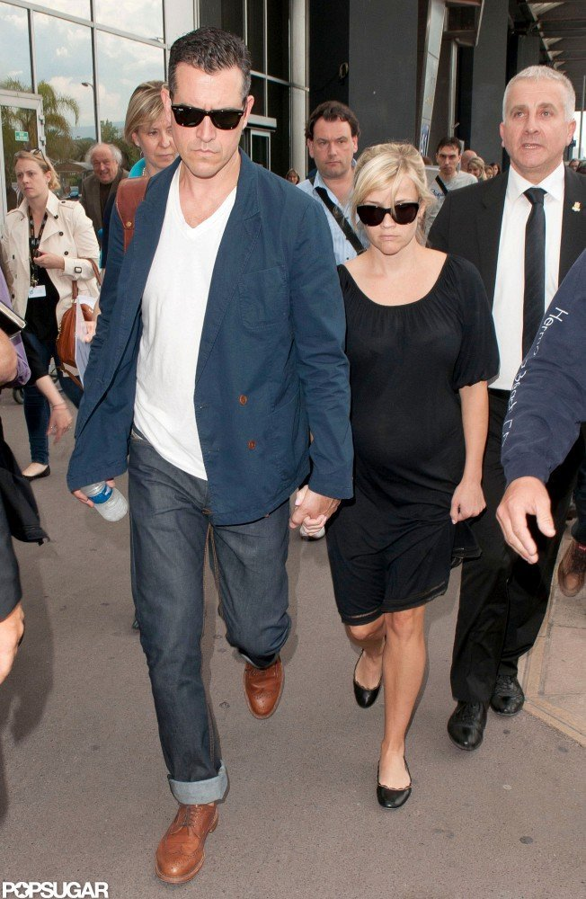 Reese Witherspoon and Jim Toth arrived in France for the Cannes Film Festival.
