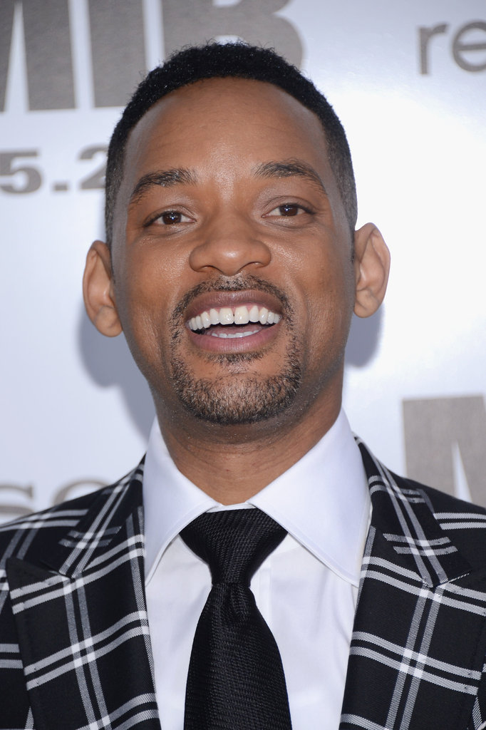 Will Smith laughed at the Men in Black III premiere in NYC.