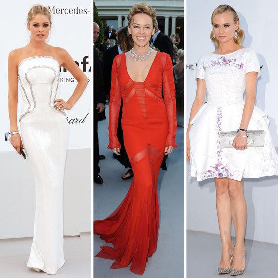 Celebrity Fashion at amfAR Cinema Against AIDS 2012