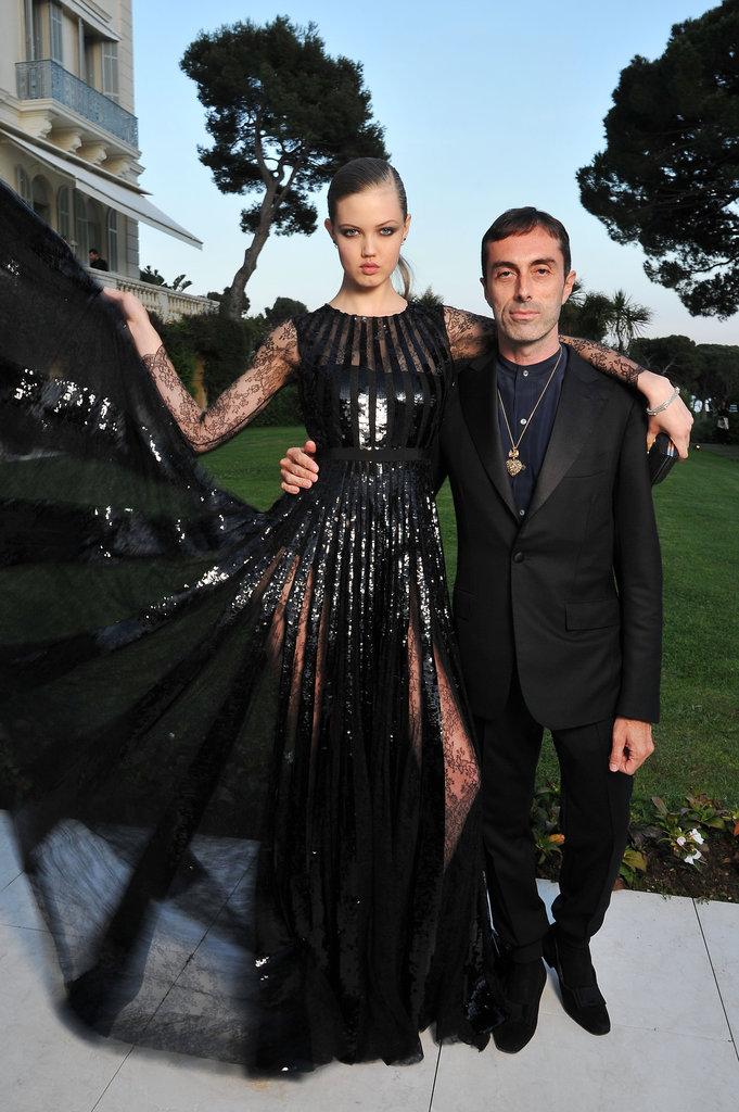 Lindsey Wixson and Giambattista Valli