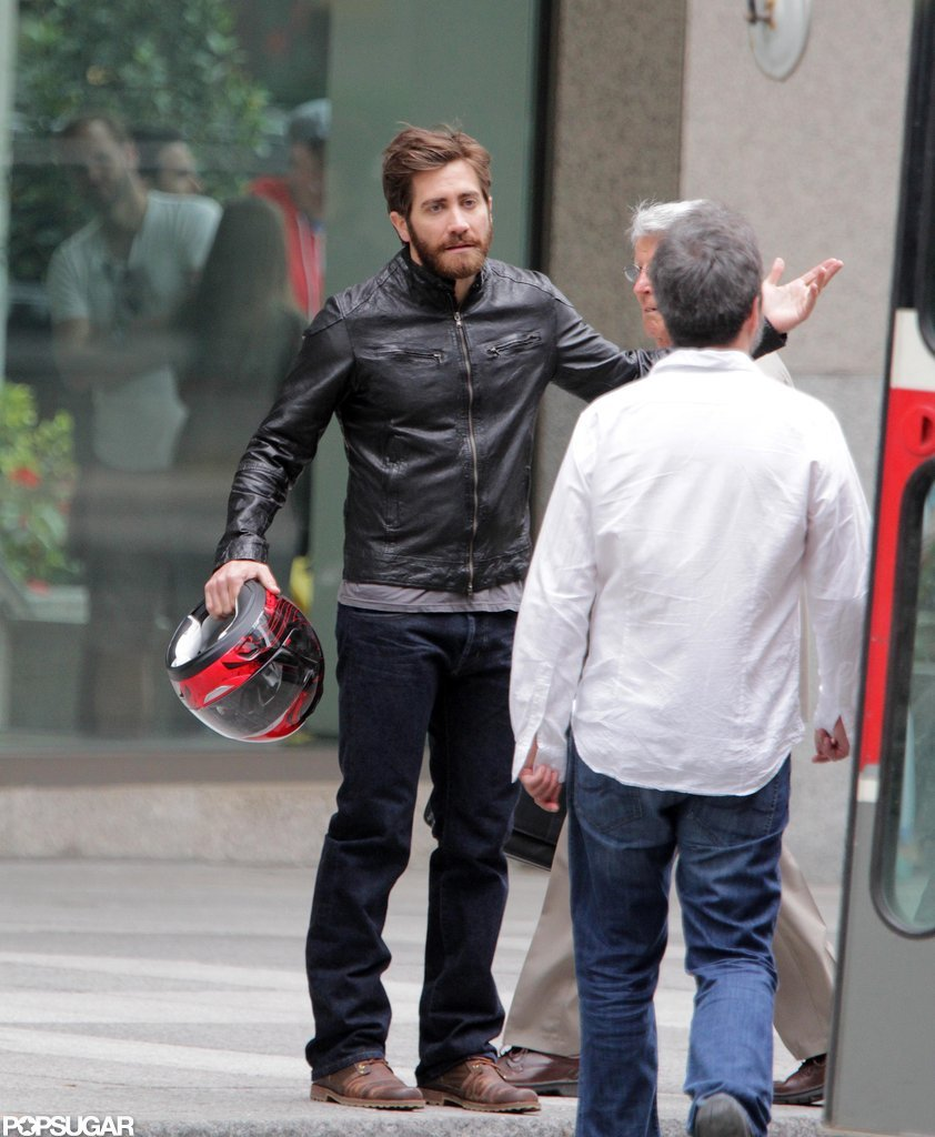 Jake Gyllenhaal got animated while shooting in Canada.