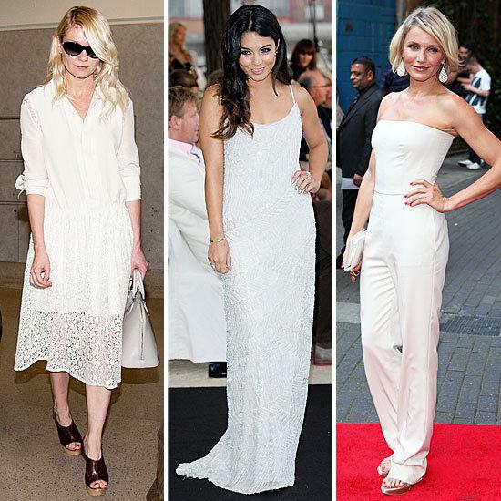 Celebrities Wearing White Summer 2012