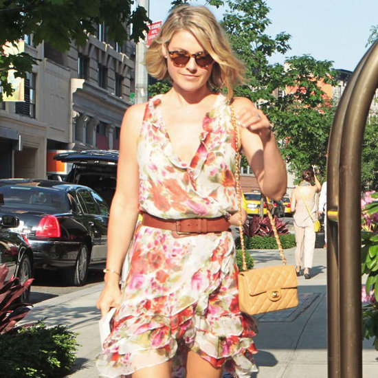 Ali Larter Floral Ruffle Dress