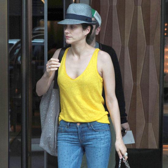 Marion Cotillard Yellow Tank Star-Print Jeans
