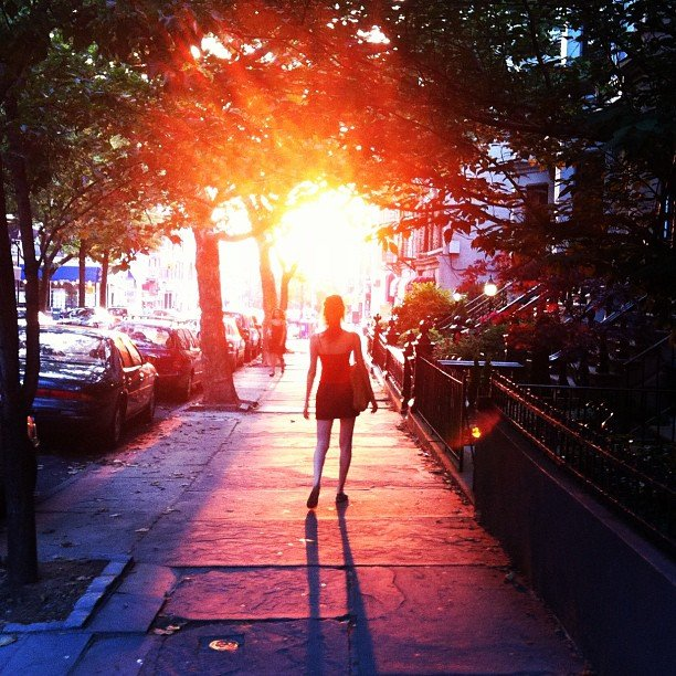 Manhattanhenge — where she was going.