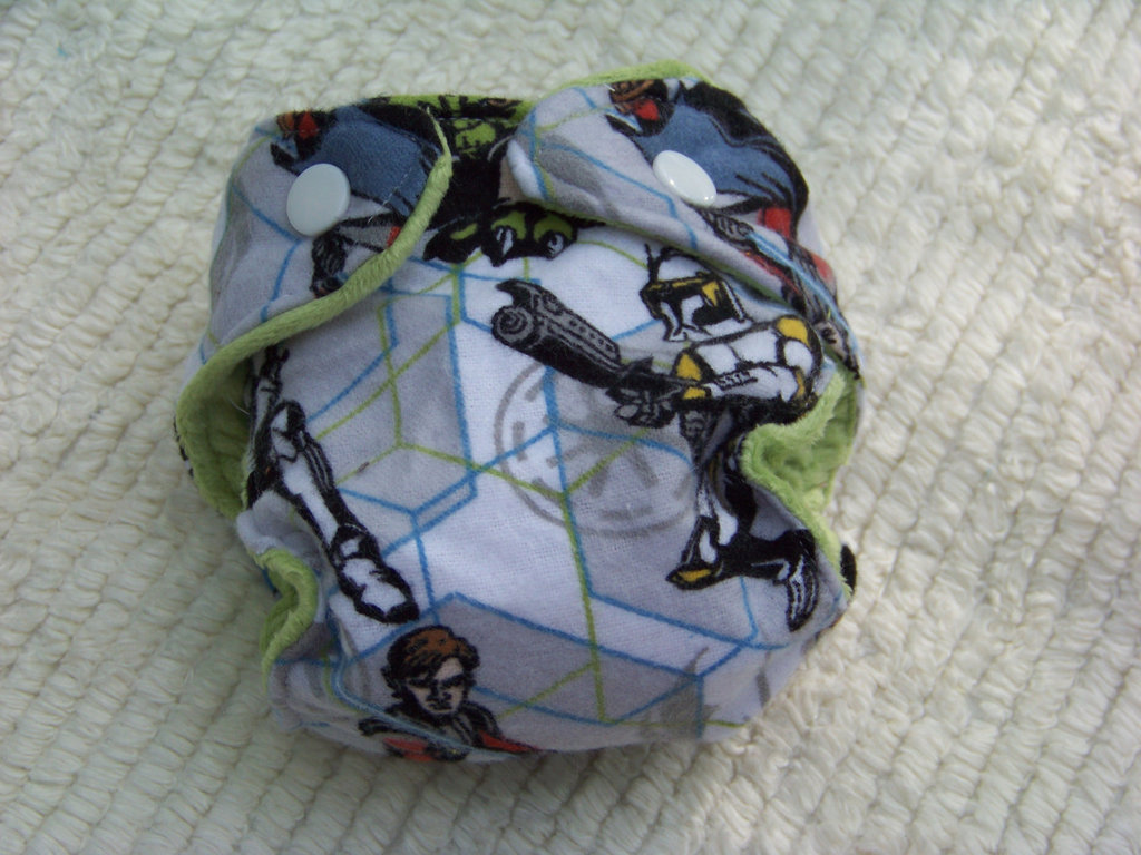Star Wars Inspired Preemie Cloth Diaper ($10)