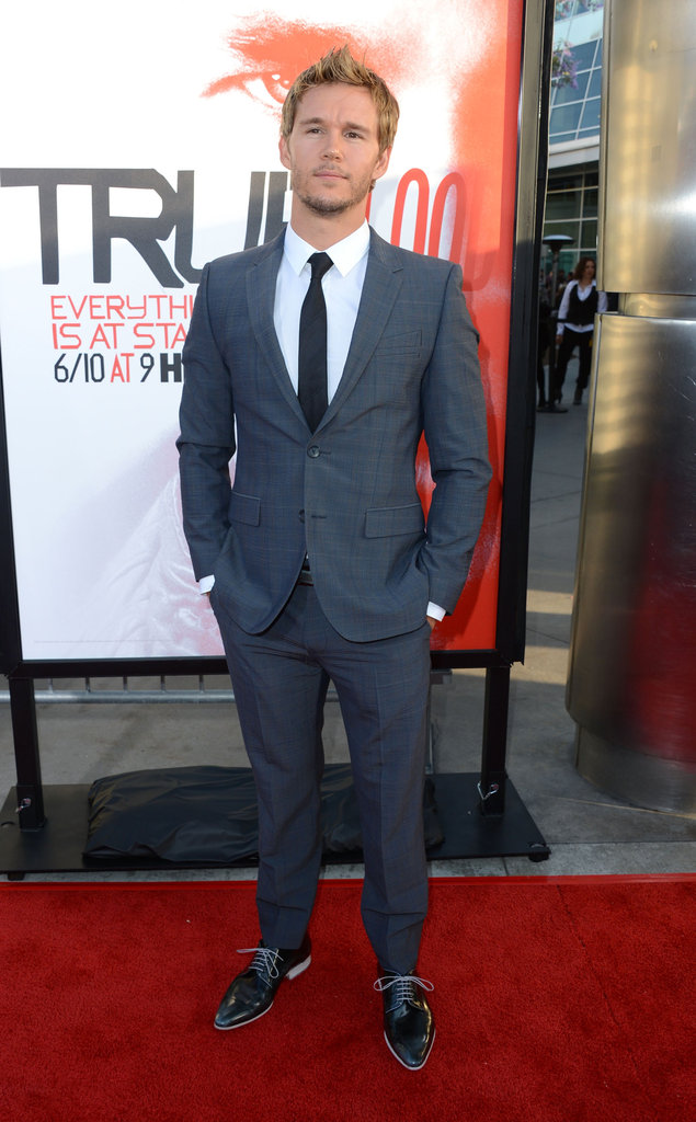 Ryan Kwanten looked cool and collected as he walked the red carpet in Hollywood.