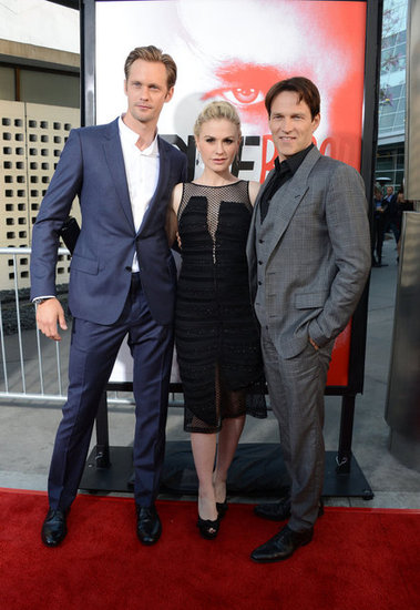 Anna Paquin posed with her leading men on the red carpet.