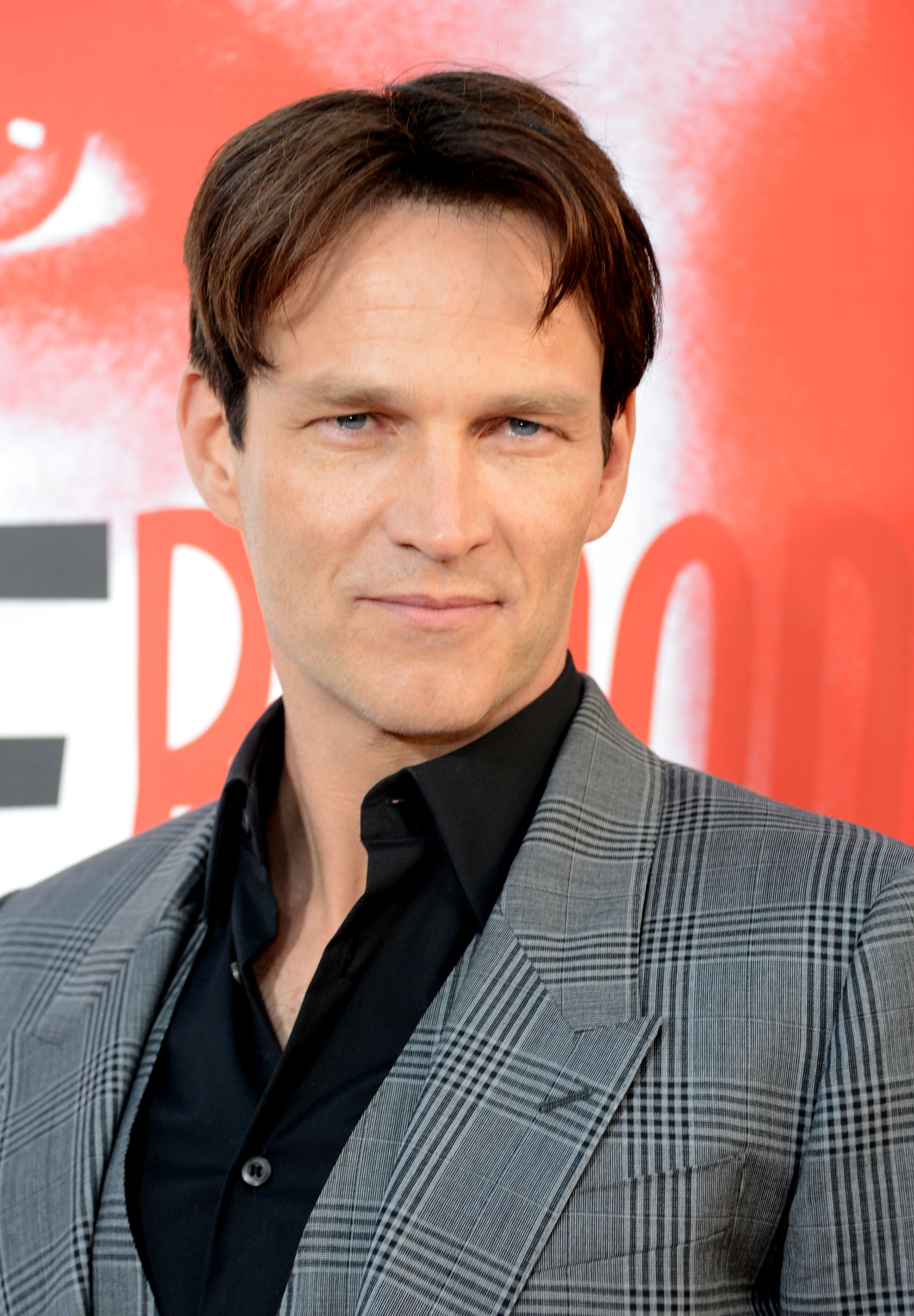 Stephen Moyer flashed his blue eyes at the camera. - Stephen-Moyer-flashed-his-blue-eyes-camera