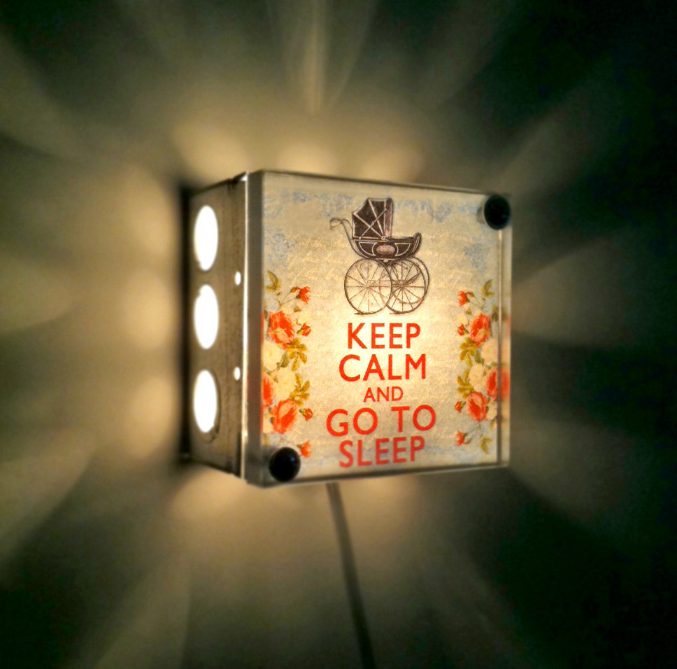 Keep Calm and Go to Sleep Night Light ($38)
