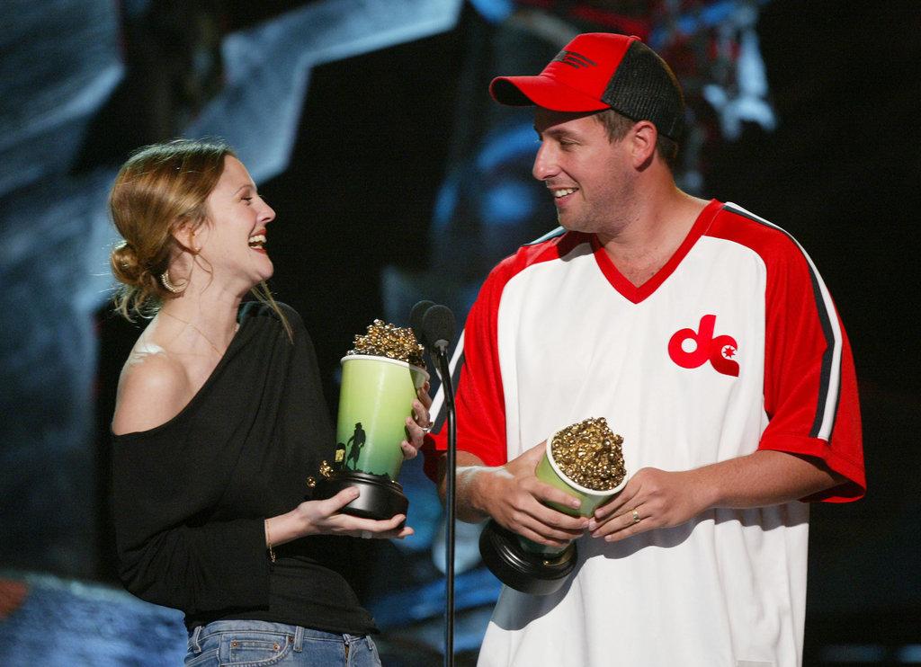 Adam Sandler and Drew Barrymore, 1998