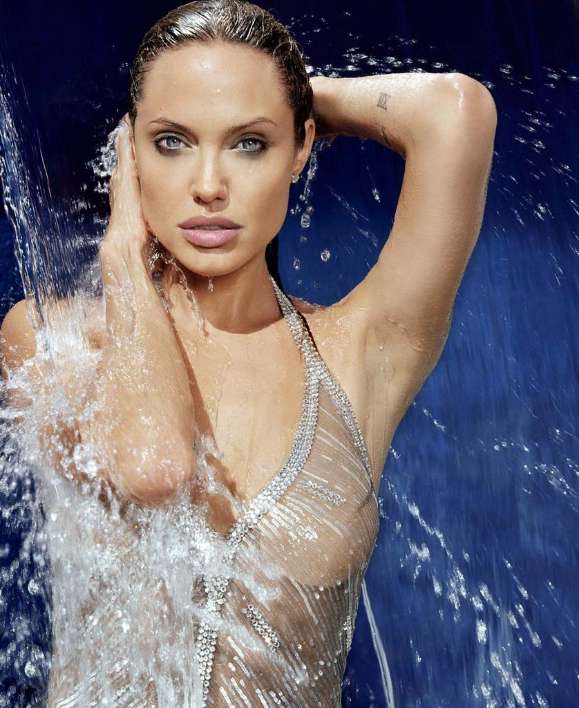 "Angelina Jolie slipped into a skimpy suit for Esquire's November 2004 ""Women We Love"" issue."